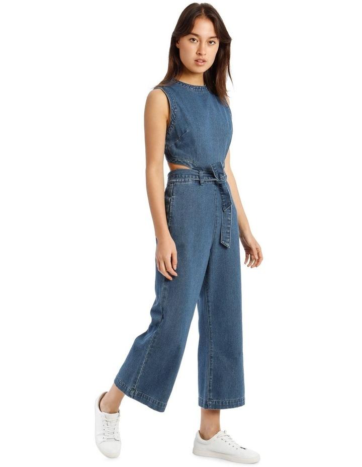 Blue Denim Cut-Out Jumpsuit image 2