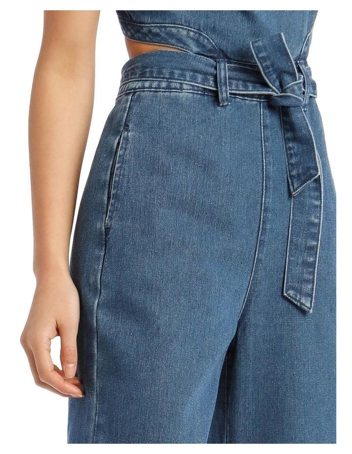 Blue Denim Cut-Out Jumpsuit image 4