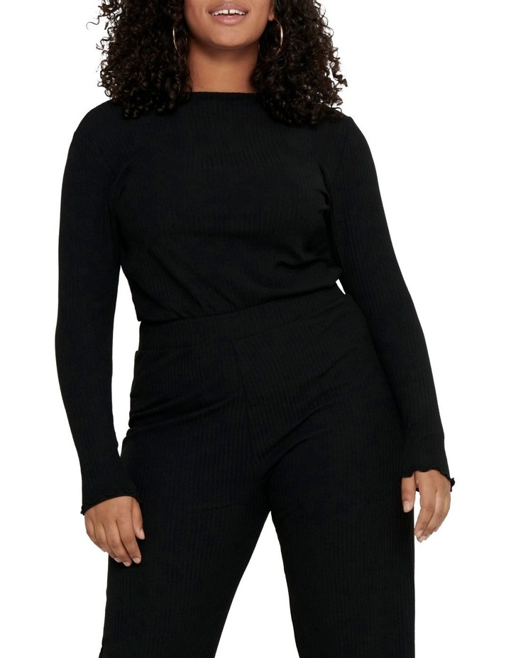 Ally High Neck Long Sleeve Top Black image 1