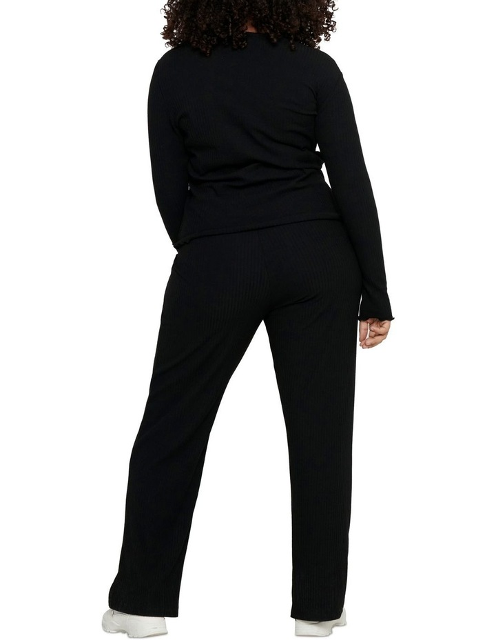 Ally High Neck Long Sleeve Top Black image 2