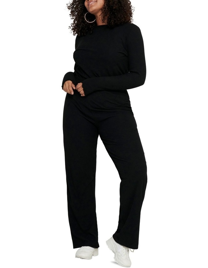 Ally High Neck Long Sleeve Top Black image 3