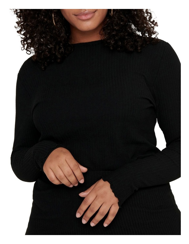 Ally High Neck Long Sleeve Top Black image 6