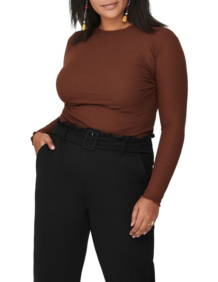 Ally High Neck Long Sleeve Top Cherry image 1