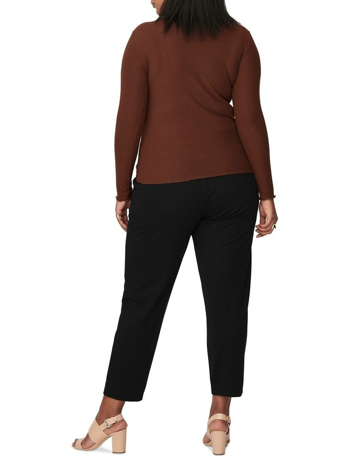 Ally High Neck Long Sleeve Top Cherry image 2