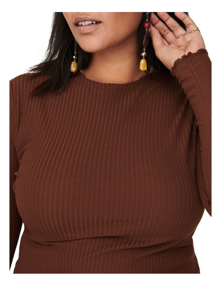 Ally High Neck Long Sleeve Top Cherry image 4