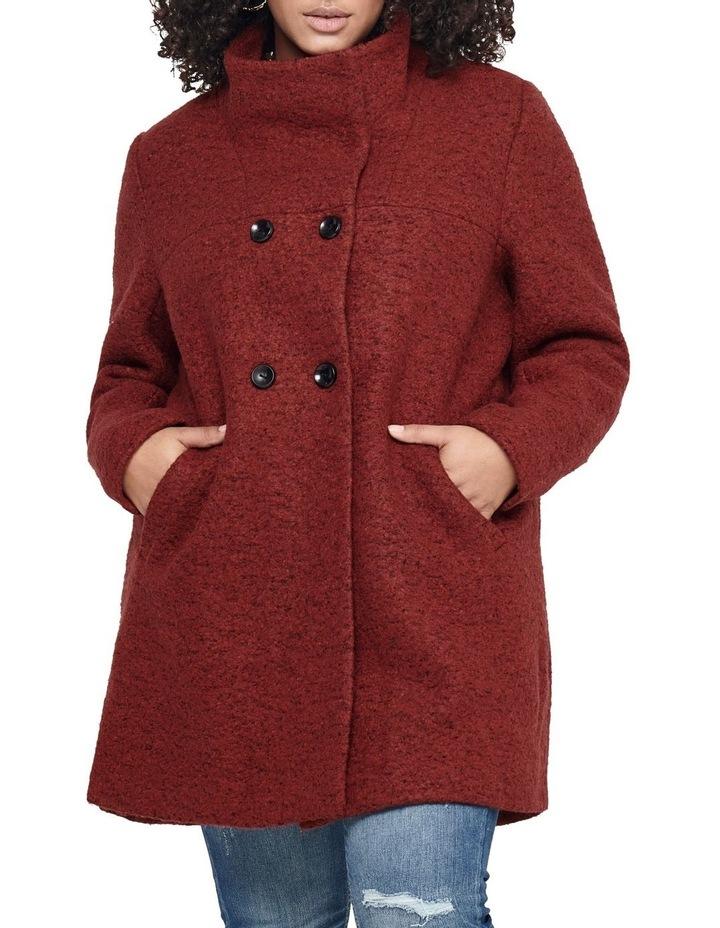 Sophia Wool Coat Dark Brown image 1