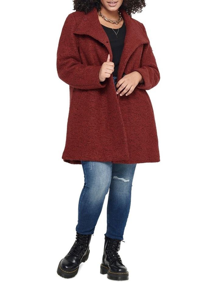 Sophia Wool Coat Dark Brown image 3