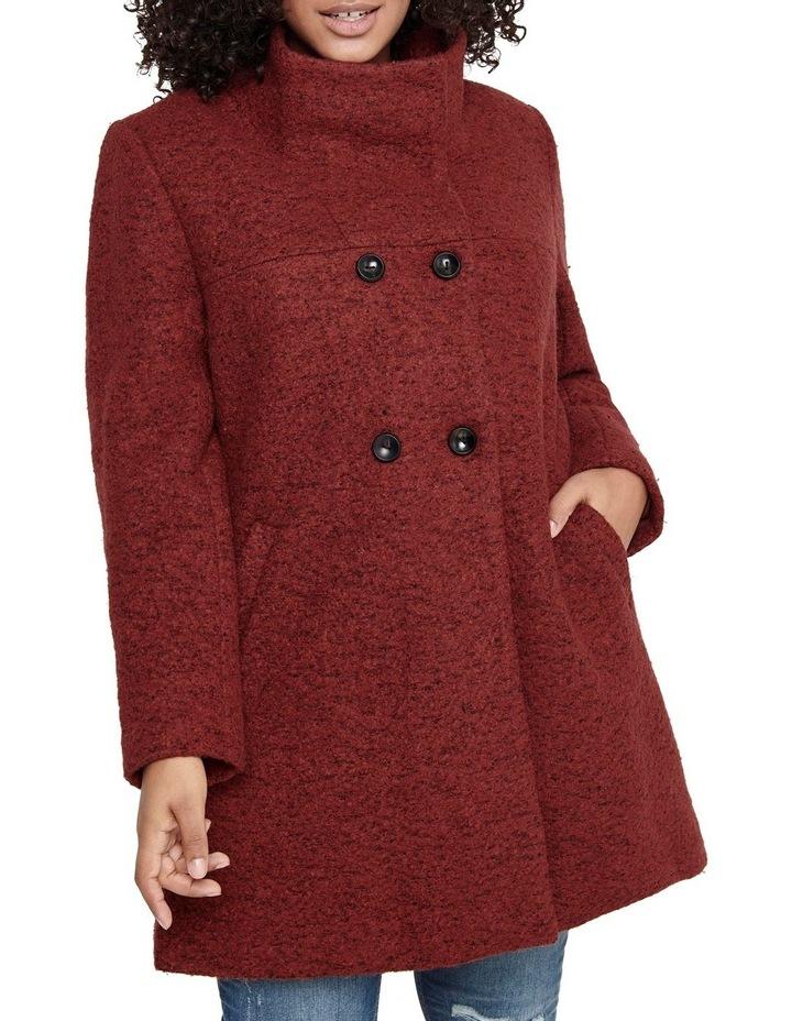 Sophia Wool Coat Dark Brown image 4