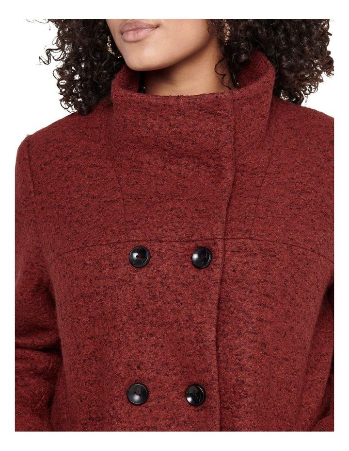 Sophia Wool Coat Dark Brown image 5