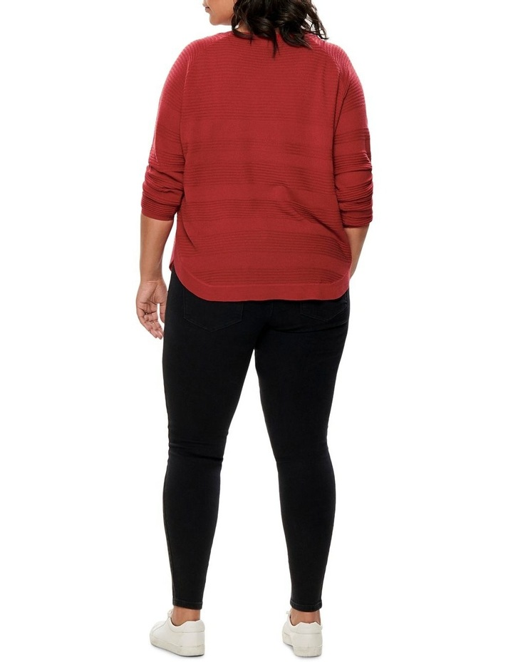 Plain Long Sleeve Pullover Knit image 2