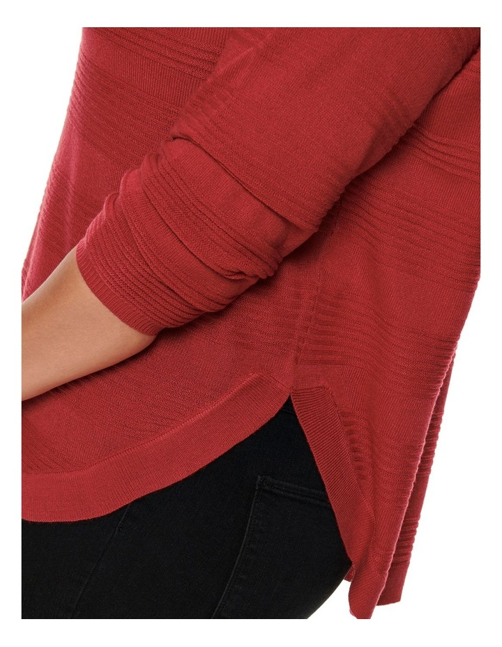 Plain Long Sleeve Pullover Knit image 3