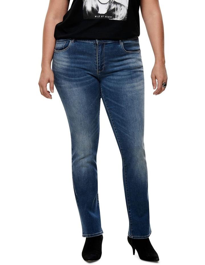 Carma Regular Ankle Medium Blue Denim Straight Leg Jean image 1