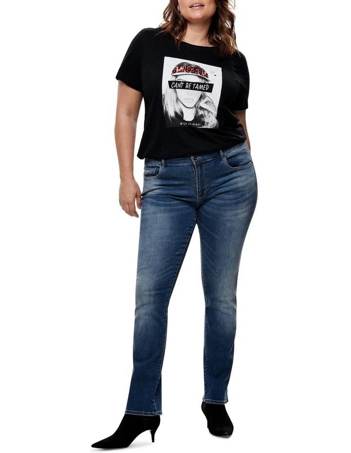 Carma Regular Ankle Medium Blue Denim Straight Leg Jean image 3