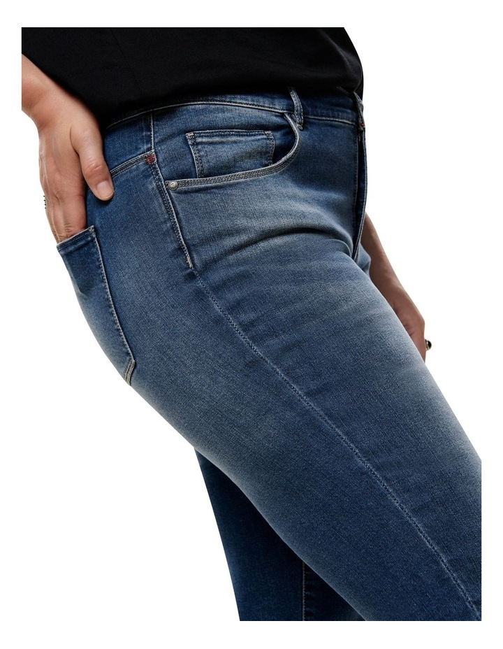 Carma Regular Ankle Medium Blue Denim Straight Leg Jean image 4