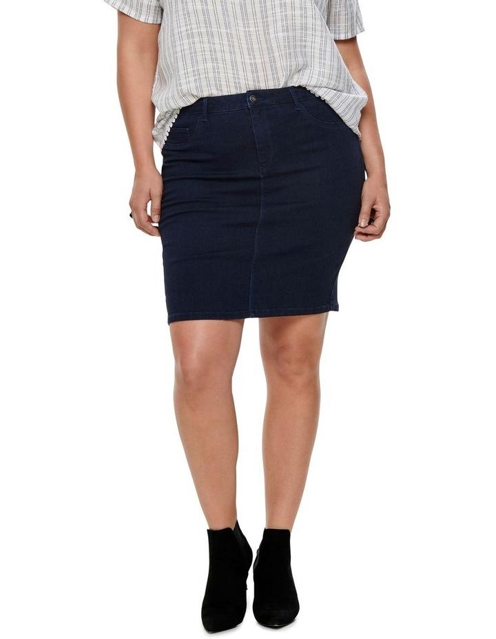 Thunder Denim Pencil Skirt image 1