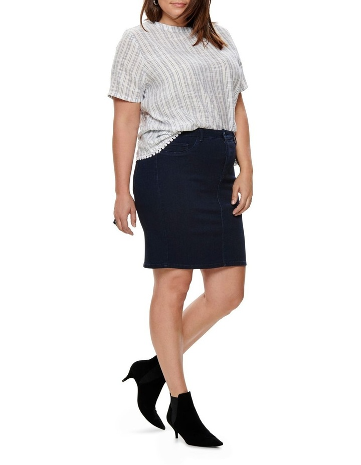 Thunder Denim Pencil Skirt image 3