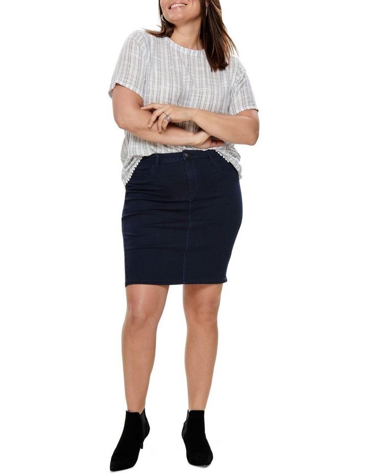 Thunder Denim Pencil Skirt image 4