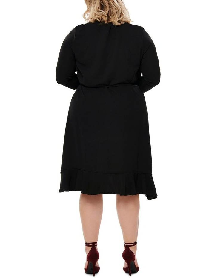 Nut 3/4 Shirt Wrap Dress Solid image 2