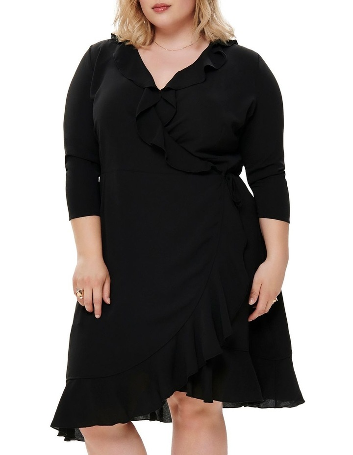 Nut 3/4 Shirt Wrap Dress Solid image 3