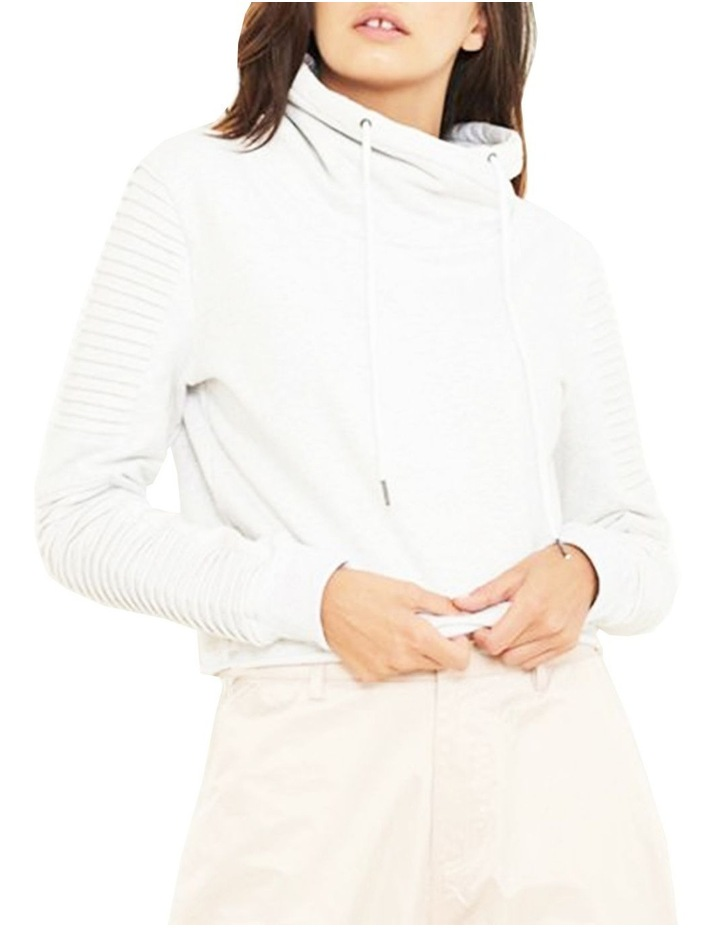 Adeline Funnel Neck Crop Sweater With Pin-Tuck Sleeve image 1