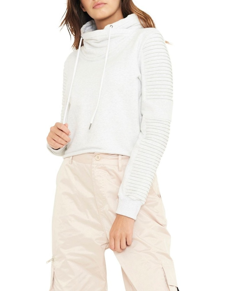Adeline Funnel Neck Crop Sweater WIth Pin-tuck Sleve image 1