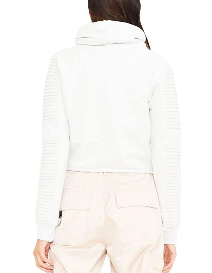 Adeline Funnel Neck Crop Sweater With Pin-Tuck Sleeve image 2