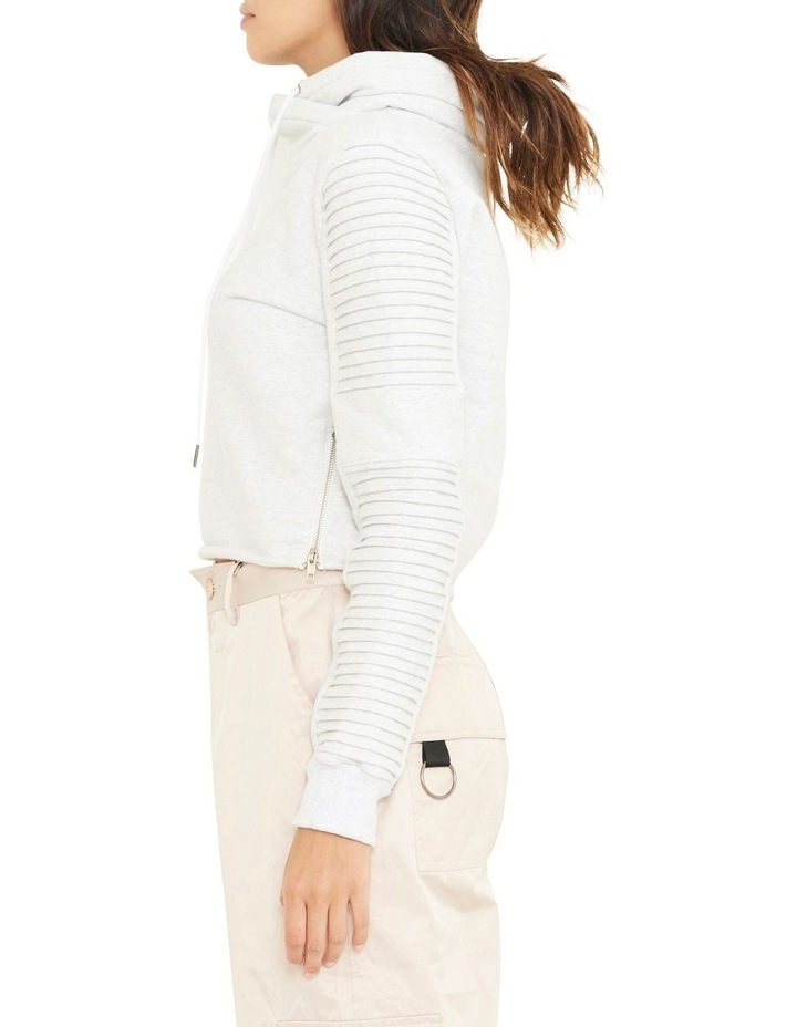 Adeline Funnel Neck Crop Sweater WIth Pin-tuck Sleve image 3