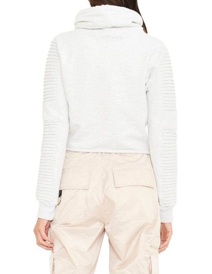 Adeline Funnel Neck Crop Sweater WIth Pin-tuck Sleve image 5
