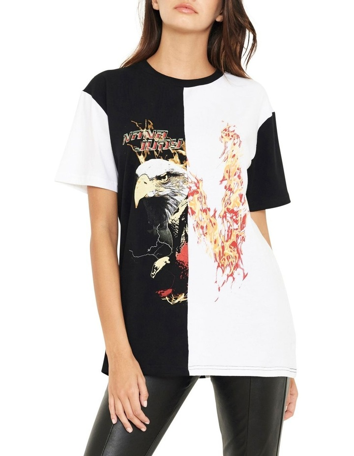 Reason Contrast Split Vintage Inspired T-Shirt image 1
