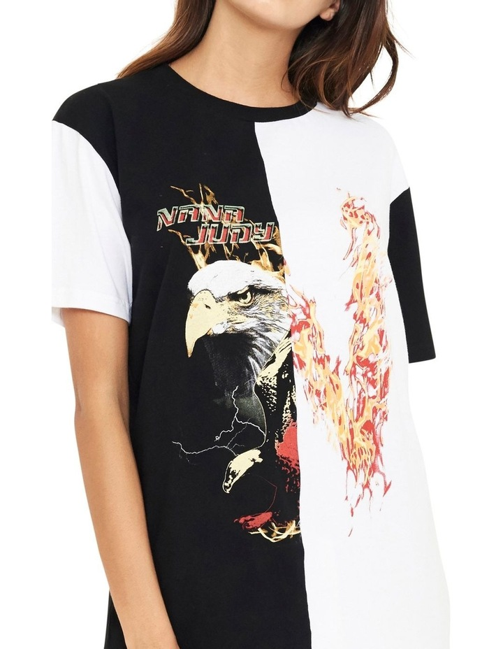 Reason Contrast Split Vintage Inspired T-Shirt image 3