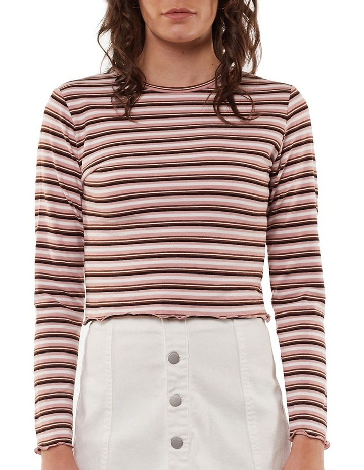 Lulu Stripe Long Sleeve Rib Top image 1