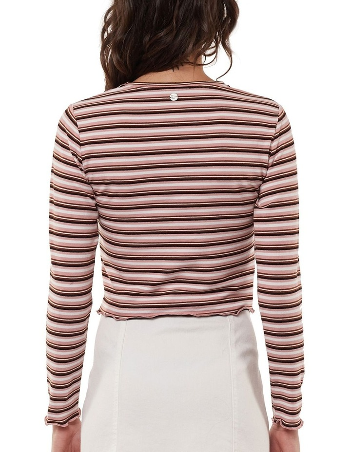 Lulu Stripe Long Sleeve Rib Top image 2