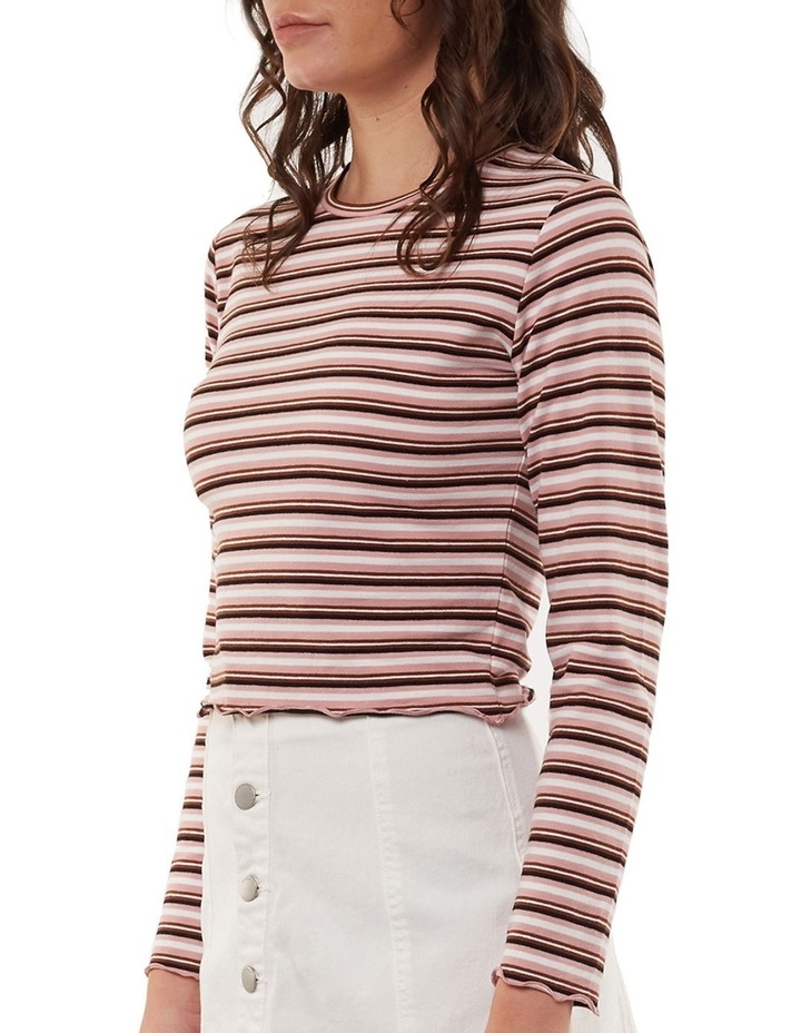 Lulu Stripe Long Sleeve Rib Top image 3
