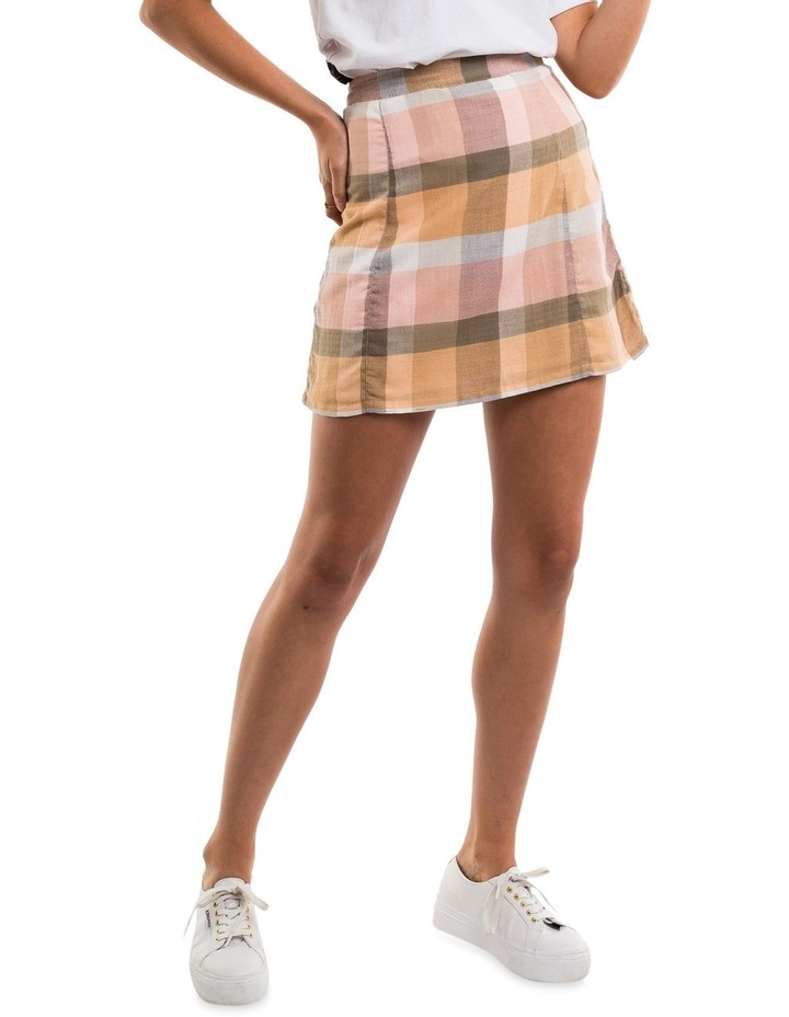 Rainbow Check Mini Skirt image 1