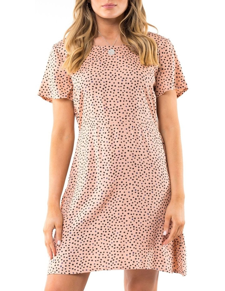 Painted Dot Fit & Flare Dress image 1