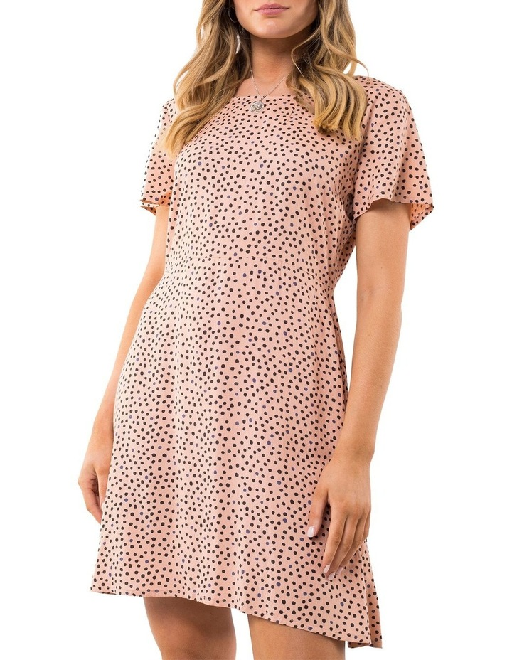 Painted Dot Fit & Flare Dress image 3