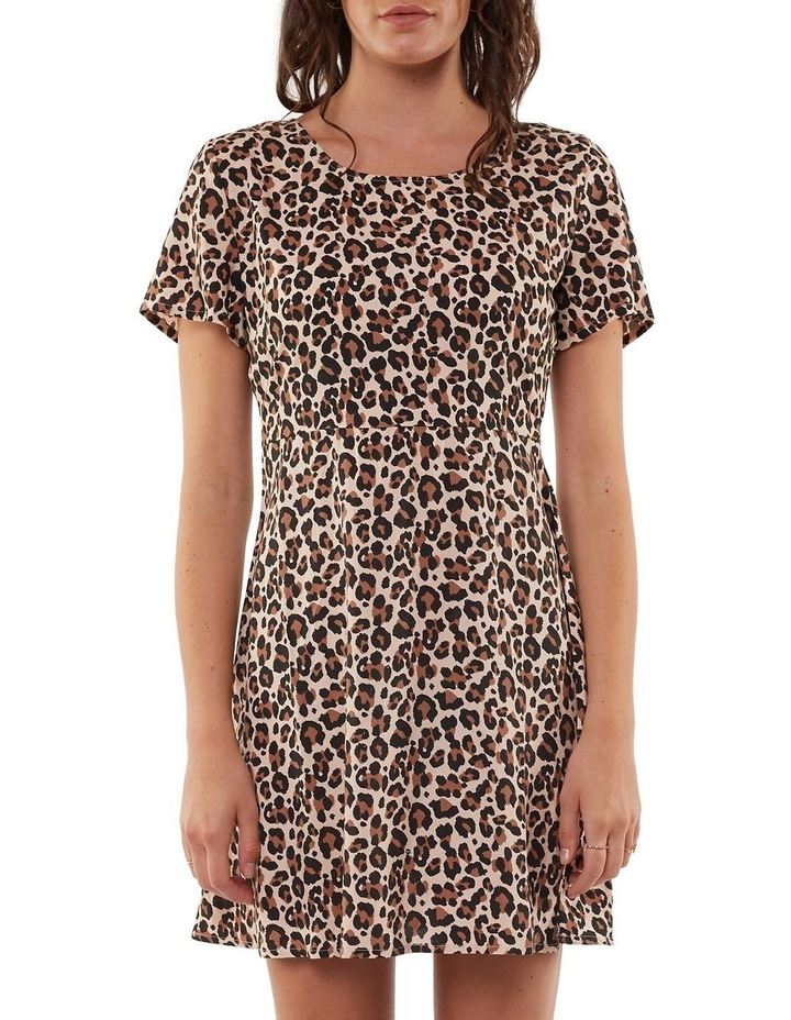Leopard Fit & Flare Dress image 1