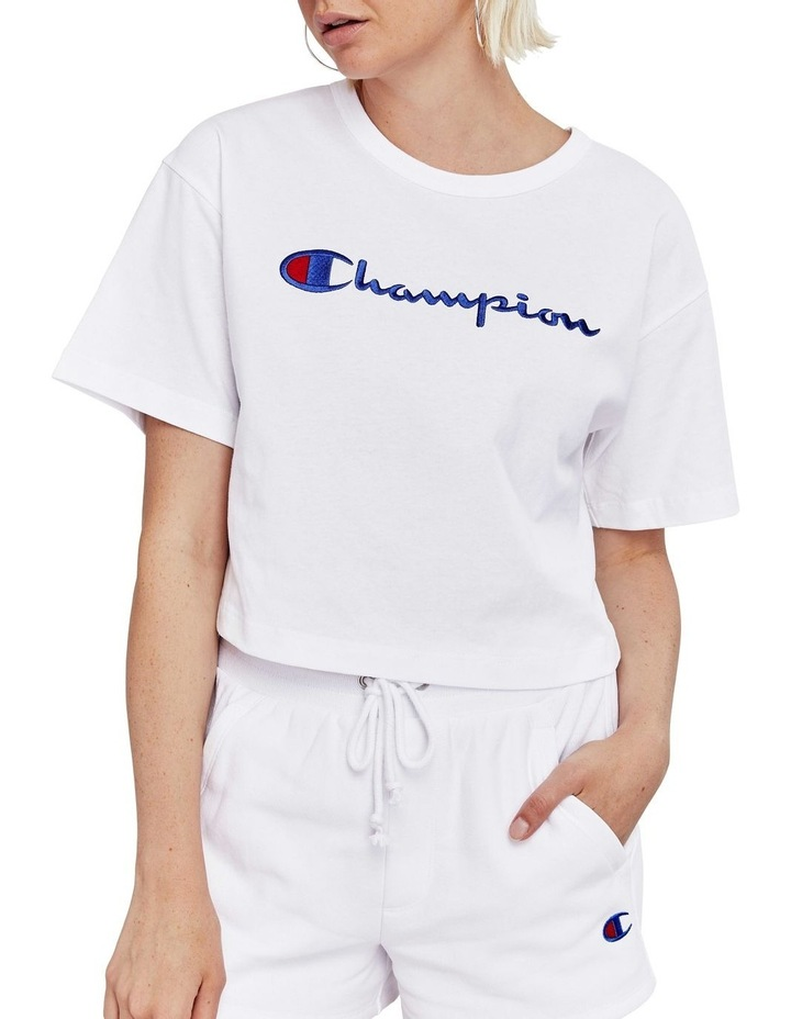 Cropped Script Tee image 1