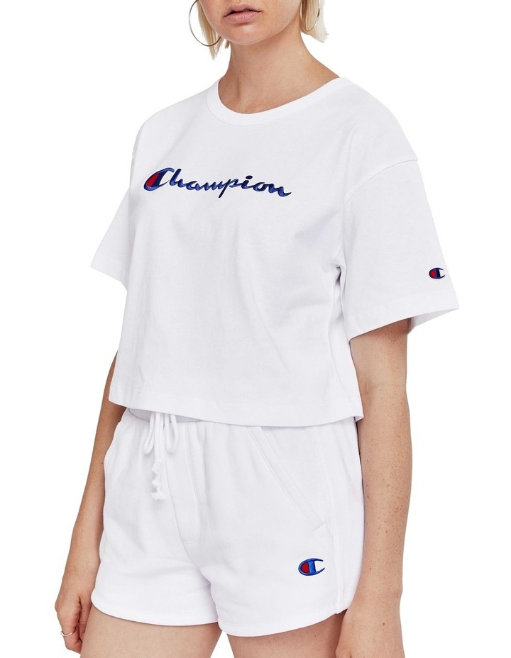Cropped Script Tee image 2