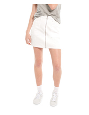 Riders By Lee - Utility Mini Skirt White Vega