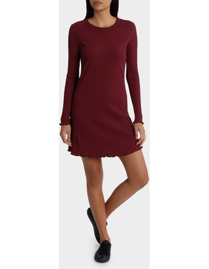 Dainty Rib Long Sleeve Dress image 1