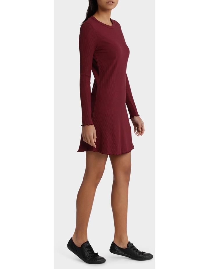 Dainty Rib Long Sleeve Dress image 2