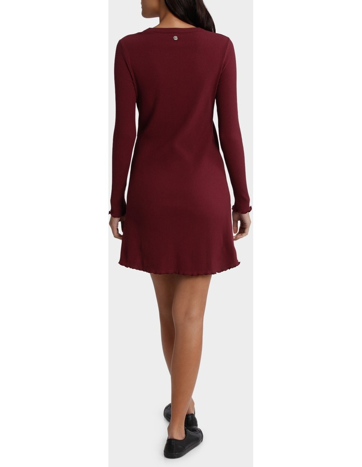 Dainty Rib Long Sleeve Dress image 3