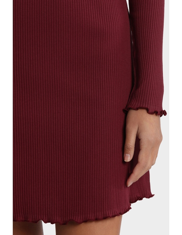 Dainty Rib Long Sleeve Dress image 4