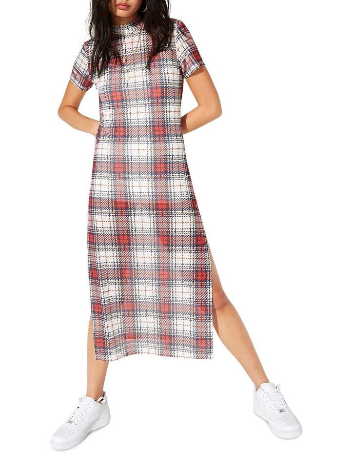 Double Take Mesh Midi Dress image 1
