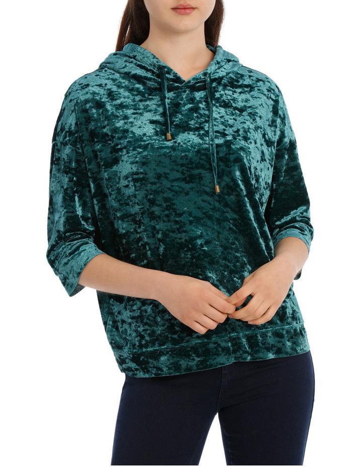 Velvet Hooded Sweater image 1