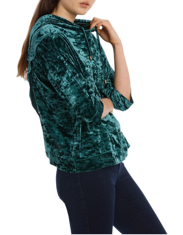 Velvet Hooded Sweater image 2