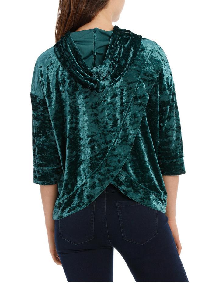 Velvet Hooded Sweater image 3
