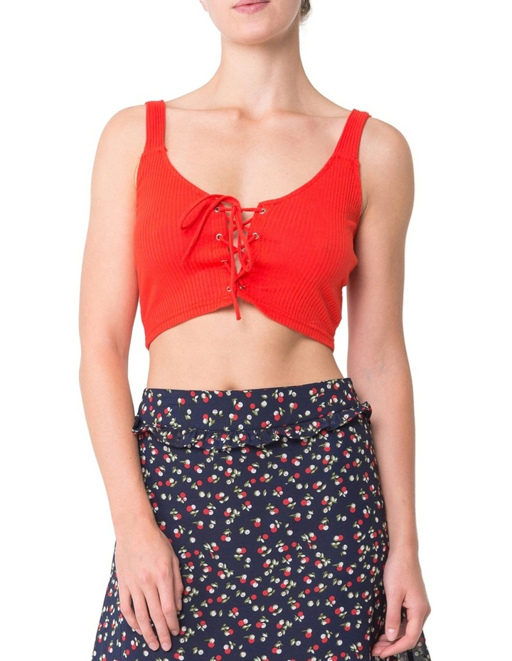 Lace Up Crop Tank image 1