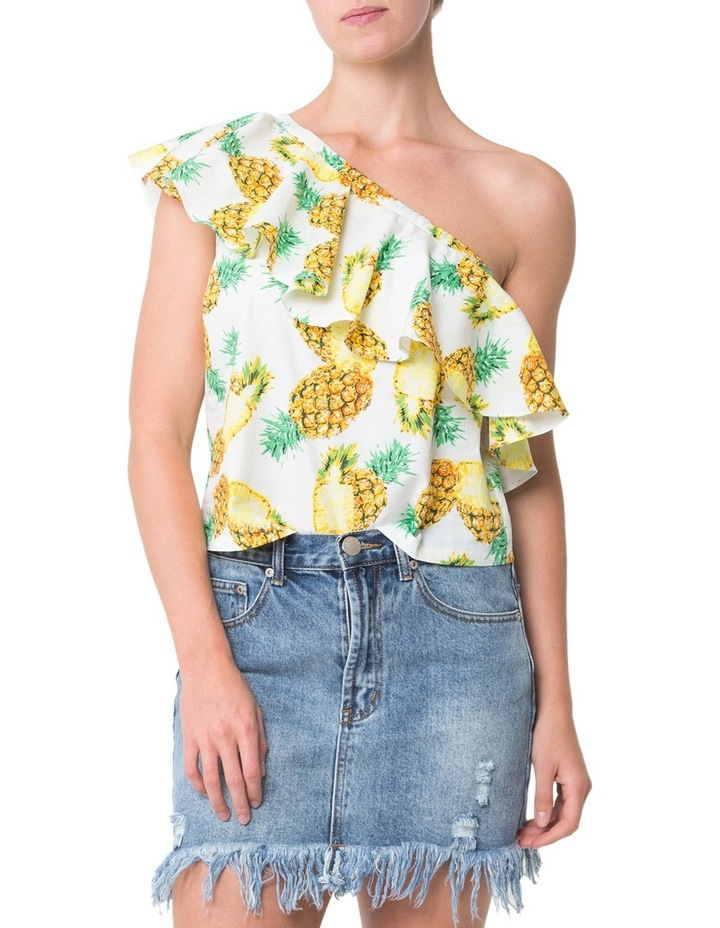 Ruffle One Shoulder Top image 1